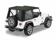 1997-2006 Jeep Wrangler TJ Replacement Soft Top with Clear Rear Windows Black