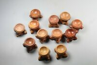 10pcs Handcrafted Rosewood Stand for Crystal Sphere & Egg 20mm INNER