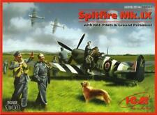 SPITFIRE MK IX C W/PILOTS & GROUND STAFF (RAF D-DAY MKGS) 1/48 ICM