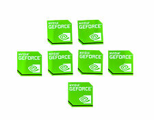 NVIDIA GEFORCE Sticker 7x Stück pcs Aufkleber Laptop Label logo new edition