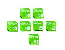 NVIDIA GeForce sticker 7x pièce pc autocollant ordinateur portable label Logo New Edition