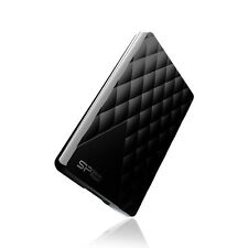 1tb Silicon Power Usb3.0 Portable Hard Drive Diamond D06 Black Edition