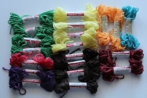 LOT 20 Uniek NEEDLOFT ASSORTED COLORS Plastic Canvas Yarn 2 PLY 10 YDS Each