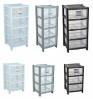 DEEP SIZE SHALLOW DRAWS TOWER DRAWER CLOTH OFFICE HOME ORGANIZER PLASTIC 3 COLOR