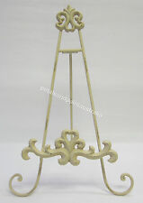 New 43cm Rustic French Provincial Cream Iron Easel for a Book,Photo,Print, Plate