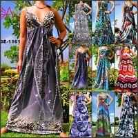 Angela New Evening Summer Sexy Sleeveless Women Long Maxi Dress Size M-XXXL US