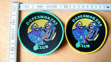 RARE WOVEN  DOPESMOKERS CLUB PATCH SKELETOR HORDAK HE-MAN MASTERS UNIVERSE WEED