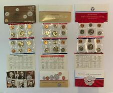 Lot of 3 Uncirculated Coin Sets - 1985, 1986 & 1987 - 30 Coins - No Reserve
