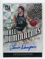 2019-20 LOUIE DAMPIER 35/99 AUTO PANINI DONRUSS HALL DOMINATORS AUTOGRAPHS