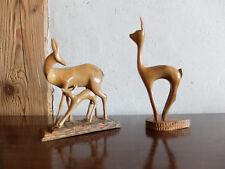 Reh Holz 60er Jahre - Rehe - passend zum Reiher Kranich - true Vintage - 60s