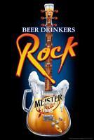 Beer Drinkers Rock Guitar Music - Poster 24x36 inch