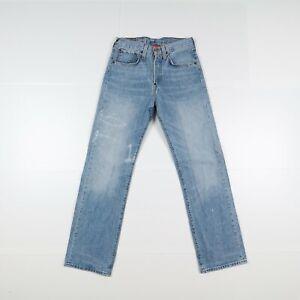 Levi's 542 Usato (Cod.J1030) W28 L34 Vita Alta Unisex Denim Largo Jeans