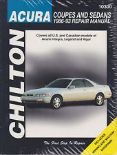1986-1993 Acura Integra Legend Vigor Chilton Repair Service Workshop Manual 4262