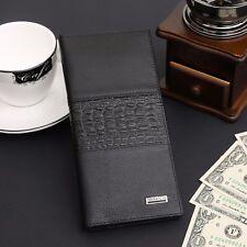 Men's Bifold Leather Fashion Long Wallet Cash Card Holder Purse Large Capacity