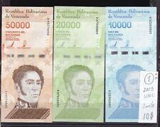 Venezuela  2019  UNC  10000;20000;50000  Bolivares three Bank Note. A series.