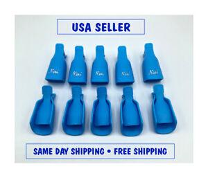 Polish Remover Soak Off Cap Clip & Wrap Tool - Plastic - Acrylic Nail or UV Gel