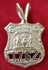 1762 City of New York 14k Yellow Gold Police Badge Charm Pendant NYC 2.0 Grams