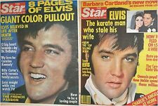 The Star September 20 1977  & October 11 1977 Elvis Presley Color Tabloid Covers
