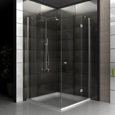 ALPENBERGER Duschkabine Duschabtrennung Dusche 100x100cm Duschwand Eckeinstieg