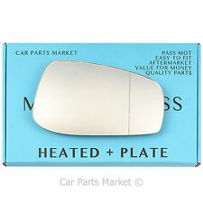Right Wide Angle Wing mirror glass for Aston Martin DB9 04-12 heated + plate