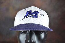 Baseball Fitted 7 1/2 Cap Hat  Zephyr Purple White