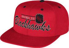 Chicago Blackhawks Original Six Flat Brim Snapback Hat NHL CCM Official Cap