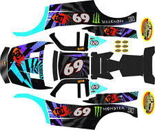 LOSI 5T MTXL  THEME  body wrap decals stickers LIGHTNING KBLK