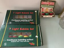 Vintage Christmas Bubble Lights 17 Total Brand New In Original Box
