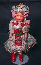 """$25.00 SALE VIntage Celluloid Shoulder Plate Doll 9"""" Kriska of Hungary"""