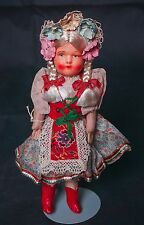 "Vintage Celluloid Shoulder Plate Doll 9"" Kriska of Hungary provincial free ship"