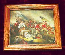 American Revolution Painting on Canvas. BUNKER HILL, JOSEPH WARREN John Trumbull