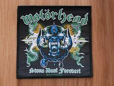 MOTORHEAD - STONE DEAF FOREVER (NEW) SEW ON PATCH OFFICIAL BAND MERCHANDISE