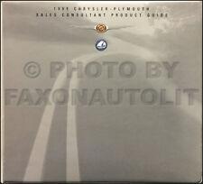 1999 Chrysler Plymouth Sales Guide Dealer Album Prowler 300M Sebring LHS Etc.
