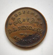 Albany, Ny- D.L. Wing & Co./ Union Forever Civil War Store Card