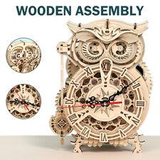 Pendeluhr Modellbau Laser geschnitten Uhr Bausatz 3D Holz Puzzle für Erwachsene