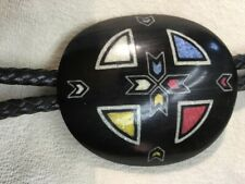 INLAID BUFFALO HORN BOLO Made by Kevin Pourier 1997