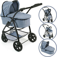 Bayer Chic 2000 Puppenwagen Emotion All In Kombi 3 in 1 Jeans Autositz Buggy NEU