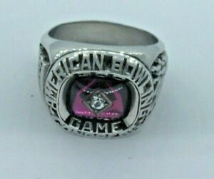 ABC AMERICAN BOWLING CONGRESS 300 GAME RING SIZE 10 1/2 Ruby Stone (842G)