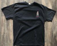 Black Reyn Spooner T-Shirt Hawaii Surf Surfer Santa Cotton Men's Size Large Sz L