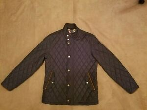 Brooks Brothers Men's Diamond Quilted Jacket, Black, Size Medium