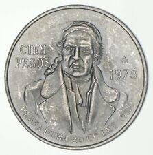 SILVER - WORLD COIN - 1978 Mexico 100 Pesos - World Silver Coin *846