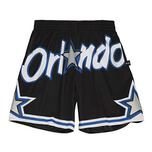 Men's Mitchell & Ness Black NBA Orlando Magic Big Face 2.0 Blownout Shorts