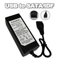 12V/5V 2A USB to IDE/SATA Power Supply Adapter HDD Hard Disk CD-ROM AC DC A