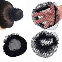 Ladies Solid Plan Black Hair Bun Cover Snood Net Ballet Women Dance Skating*TOCA
