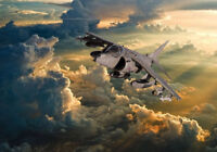 Hawker Siddley Harrier dramatic sky canvas prints various sizes free delivery