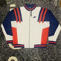 Nike Mens Woven Track Jacket Re-Issue Zip-Up White/Blue/Red CJ4921-100 Large NWT