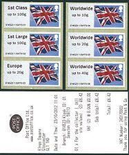 WINCOR TYPE II UNION JACK FLAG COLLECTOR SET/6  POST & GO FS39-44 WINDSOR ALBUM