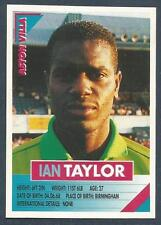 PANINI SUPERPLAYERS 1996 #027-ASTON VILLA-SHEFFIELD WED-PORT VALE-IAN TAYLOR