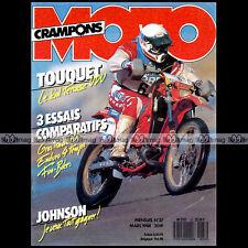 MOTO CRAMPONS N°37 HONDA TRANSALP XR 600 R GUZZI NTX GEBOERS RICKY JOHNSON 1988