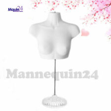 New! Female Torso Mannequin Form - White w/ Acrylic Base